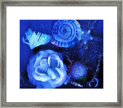 In The Blues Of The Night Framed Print by Anne-elizabeth Whiteway