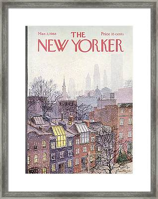 In The Borough Framed Print by Albert Hubbell