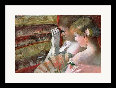 Opera Gloves Paintings Framed Prints