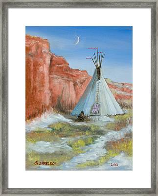 In The Canyon Framed Print by Jerry McElroy