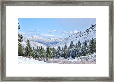 In The Canyon Framed Print by Marilyn Diaz