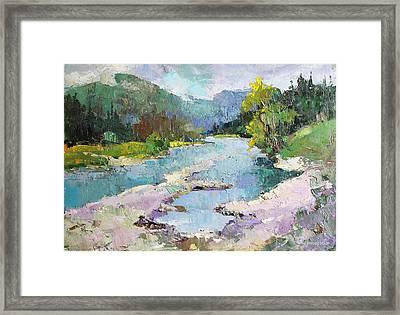 In The Carpathians Framed Print by Anastasiia Grygorieva