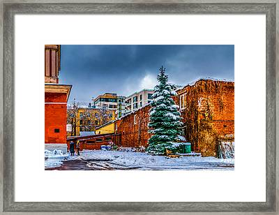 In The Churchyard Framed Print