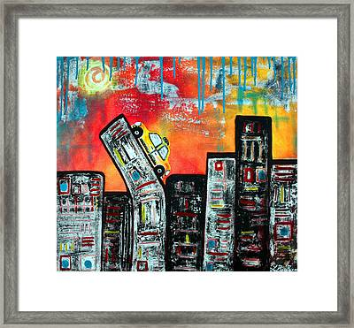 In The City 2 Framed Print by Laura Barbosa