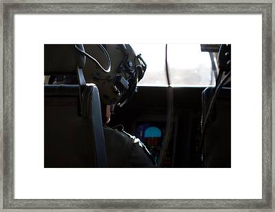 In The Cockpit Framed Print by Paul Job