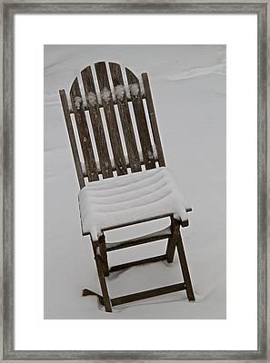 In The Cold Framed Print by Odd Jeppesen
