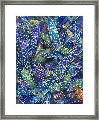 In The Conservatory - 6th Center - Indigo Framed Print
