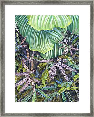 In The Conservatory - 4th Center - Green Framed Print