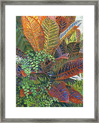 In The Conservatory - 2nd Center - Orange Framed Print