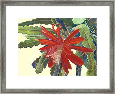 In The Conservatory - 1st Center - Red Framed Print