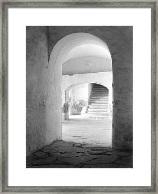 In The Convent Of Tepotzotlan, Mexico Framed Print by Tina Modotti