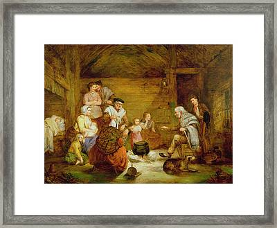 In The Crofters Home, 1868 Framed Print