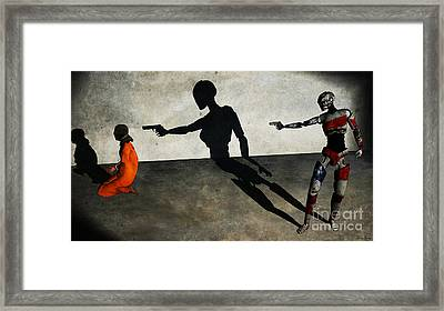 In The Crosshair Of A Nation Framed Print