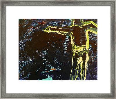 In The Dark Corn Framed Print