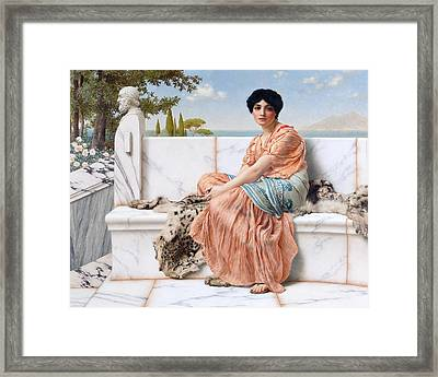 In The Days Of Sappho Framed Print by John William Godward