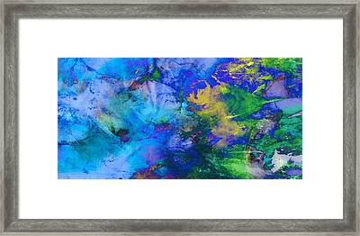 In The Deep Abstract Art Framed Print by Ann Powell