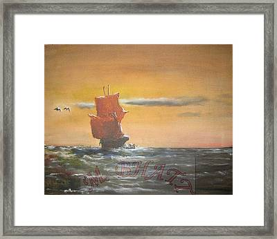 In The Deep Ocean Framed Print by M Bhatt