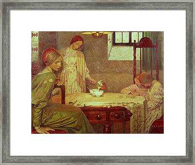 In The Depth Of Winter Framed Print by Frederick Cayley Robinson