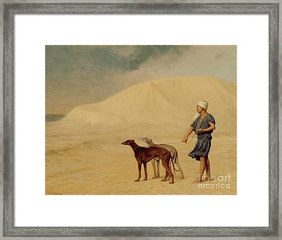 In The Desert Framed Print by Jean Leon Gerome