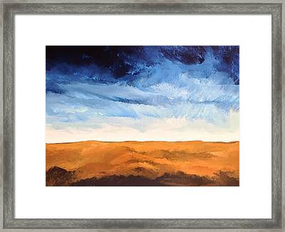 Framed Print featuring the painting In The Distance by Linda Bailey