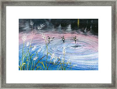 In The Dusk Framed Print by Melly Terpening