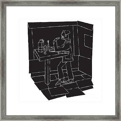 In The Eatery Framed Print