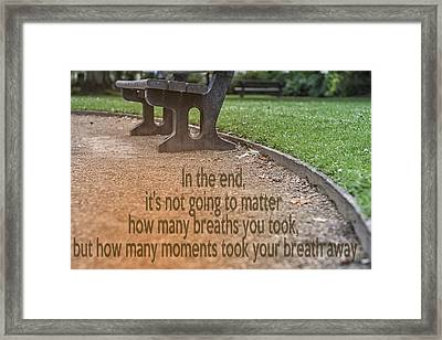 In The End Framed Print