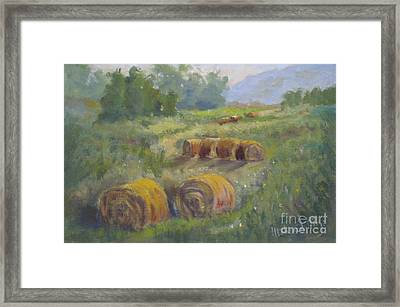 In The Field Framed Print by Mohamed Hirji