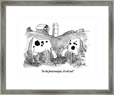In The Final Analysis Framed Print by W.B. Park