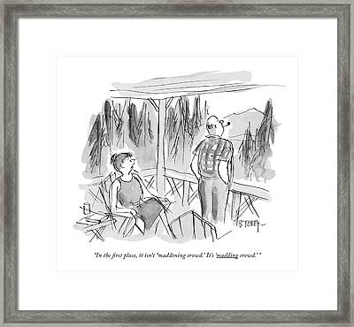In The First Place Framed Print