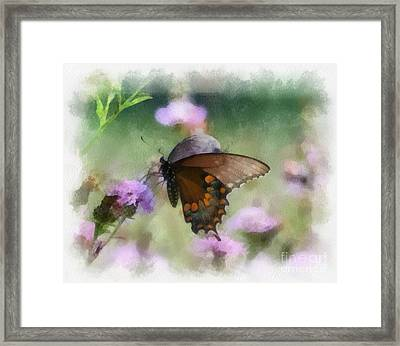 In The Flowers Framed Print