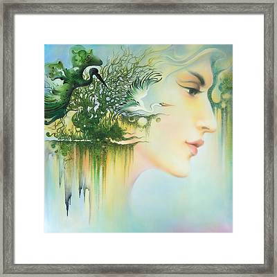 In The Fluter Of Wings-in The Silence Of Thoughts Framed Print by Anna Ewa Miarczynska