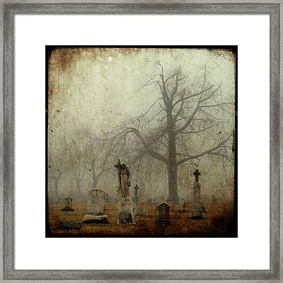 Yo Can See Her In The Foggy Graveyard Framed Print by Gothicrow Images