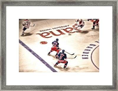 In The Game Framed Print by Karol Livote