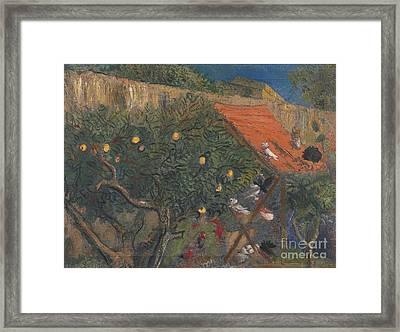 In The Garden Framed Print by Celestial Images