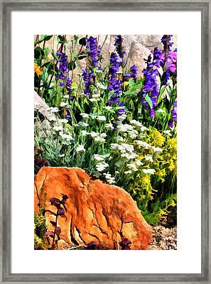 In The Garden Framed Print by Brian Davis