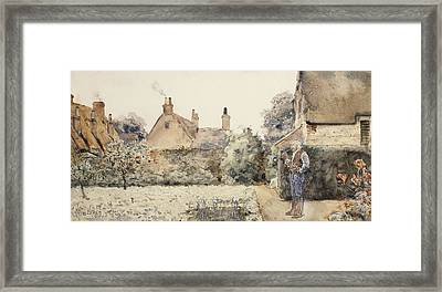 In The Garden Framed Print by Childe Hassam