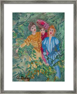 In The Garden Framed Print by Gail Daley