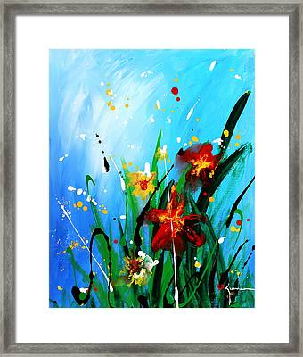 Framed Print featuring the painting In The Garden by Kume Bryant