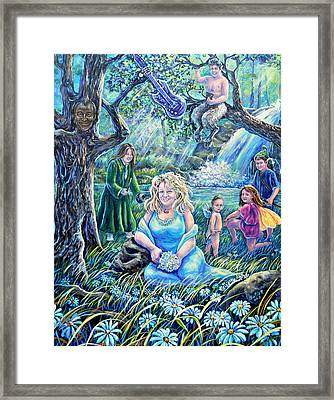 In The Garden Of The Goddess Framed Print