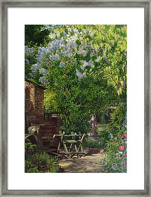 In The Garden  Framed Print by William John Montaigne