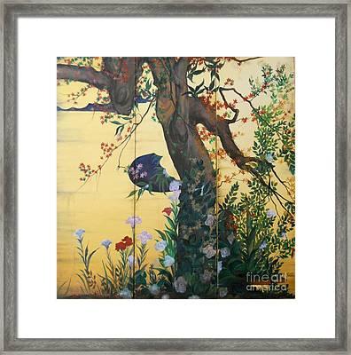 In The Garden Framed Print by Sorin Apostolescu