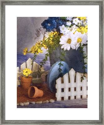 In The Garden Framed Print by Tom Mc Nemar