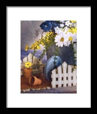 Wheelbarrow Framed Prints