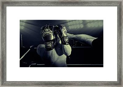 In The Glare Of The Lights Framed Print by Adrian Vrican