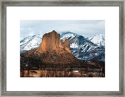 In The Glow Framed Print