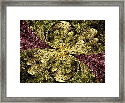 In The Glowing Framed Print by Lea Wiggins