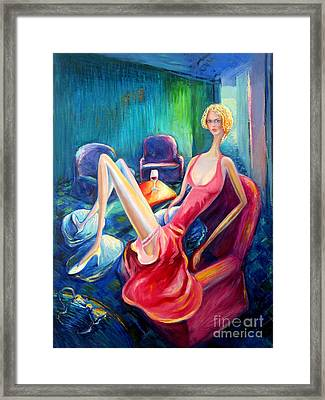 The Green Room Framed Print by Frederick  Luff