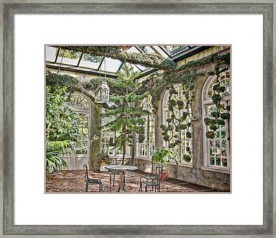 In The Greenhouse Framed Print by Elin Mastrangelo