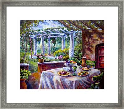 In The Grotto Framed Print